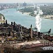 Zug Island Industrial Area Of Detroit Print by Bill Cobb
