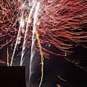 Bastille Day Fireworks Print by Sami Sarkis