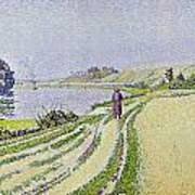 Herblay La River  Print by Paul Signac