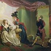 Malvolio Before Olivia - From 'twelfth Night'  Print by Johann Heinrich Ramberg