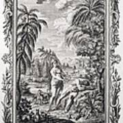 1731 Scheuchzer Creation Adam & Eve Print by Paul D Stewart