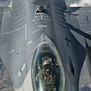 A U.s. Air Force F-16c Fighting Falcon Print by Giovanni Colla