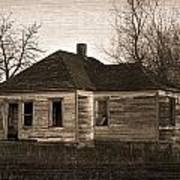 Abandoned Farm House Print by Richard Wear