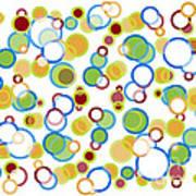 Abstract Circles Print by Frank Tschakert
