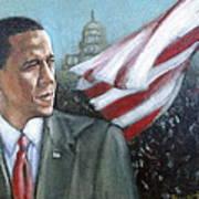 Barack Obama Print by Howard Stroman