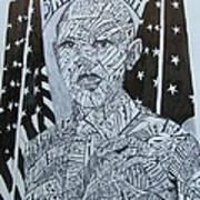 Barack Obama Print by Lourents Oybur