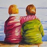 Best Friends Print by Debra  Bannister
