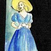 Blue Gown Print by Mel Thompson