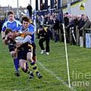 Bridlington Rufc V North Ribblesdale Rufc Print by David  Hollingworth