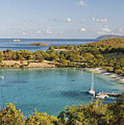 Caneel Bay Panorama Print by George Oze