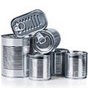 Canned Food Print by Carlos Caetano