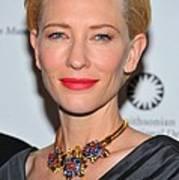 Cate Blanchett Wearing A Van Cleef & Print by Everett