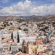 City Of Guanajuato From The Pipila Overlook At Dusk Print by Jeremy Woodhouse