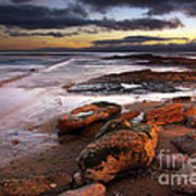 Coastline At Twilight Print by Carlos Caetano