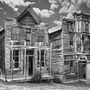 Elkhorn Ghost Town Public Halls - Montana Print by Daniel Hagerman