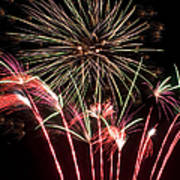 Fireworks Print by Cindy Singleton