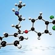 Fluoxetine Drug Molecule Print by Miriam Maslo