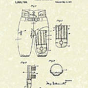 Football Pants 1917 Patent Art Print by Prior Art Design