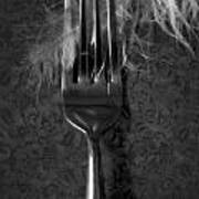 Fork And Feather Print by Joana Kruse