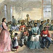 Freedmens School, 1866 Print by Granger