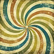 grunge Rays background Print by Setsiri Silapasuwanchai
