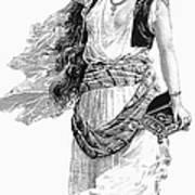 Harem Woman. 19th Century Print by Granger