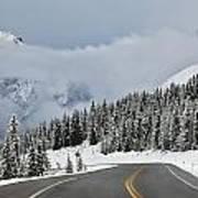 Highway 40 In Winter, Highwood Pass Print by Darwin Wiggett