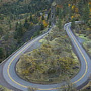 Historic Columbia River Highway Print by Alan Majchrowicz