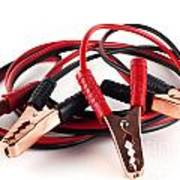 Jumper Cables Print by Blink Images