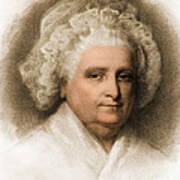 Martha Washington, American Patriot Print by Photo Researchers