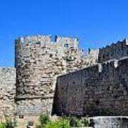 Medieval Fortress Of Rhodes. Print by Fernando Barozza