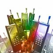 Mobile Phones Print by Victor Habbick Visions