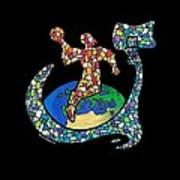 Mosaic Ballin Print by Steve Weber