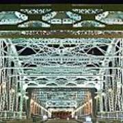 Nashville By Night Bridge 2 Print by Douglas Barnett