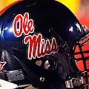 Ole Miss Football Helmet Print by University of Mississippi