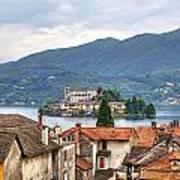 Orta - Overlooking The Island Of San Giulio Print by Joana Kruse