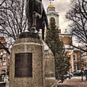 Paul Revere-statue Print by Joann Vitali