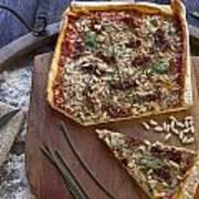 Pizza With Herbs Print by Joana Kruse