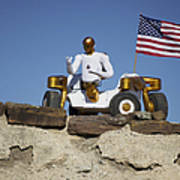 Robonaut 2 Poses Atop Its New Wheeled Print by Stocktrek Images