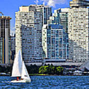 Sailing In Toronto Harbor Print by Elena Elisseeva