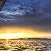 Sailing Sunset Charleston Sc Print by Dustin K Ryan