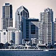 San Diego Skyline Print by Paul Velgos