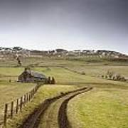 Scottish Borders, Scotland Tire Tracks Print by John Short