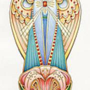 Scroll Angels - Lillium Print by Amy S Turner