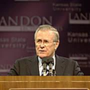 Secretary Of Defense Donald H. Rumsfeld Print by Stocktrek Images