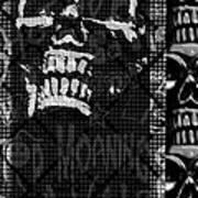 Skull Montage Print by Roseanne Jones