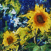 Sunflowers Print by Michelle Calkins