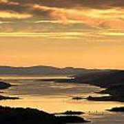 Sunset Over Water, Argyll And Bute Print by John Short