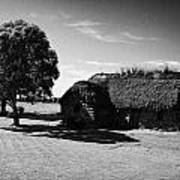 the old leanach cottage on Culloden moor battlefield site highlands scotland Print by Joe Fox