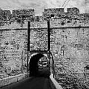 The Porta Di Limisso The Old Land Gate In The Old City Walls Famagusta Turkish Republic Cyprus Print by Joe Fox